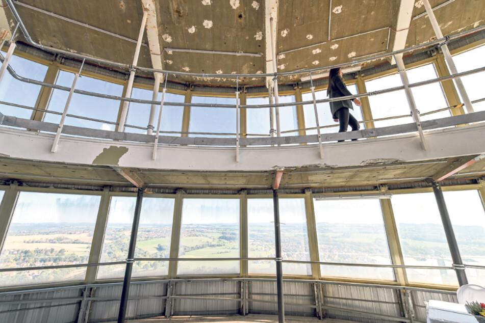 Komplett entkernt, wartet der Turm auf eine Entscheidung Anfang 2021.