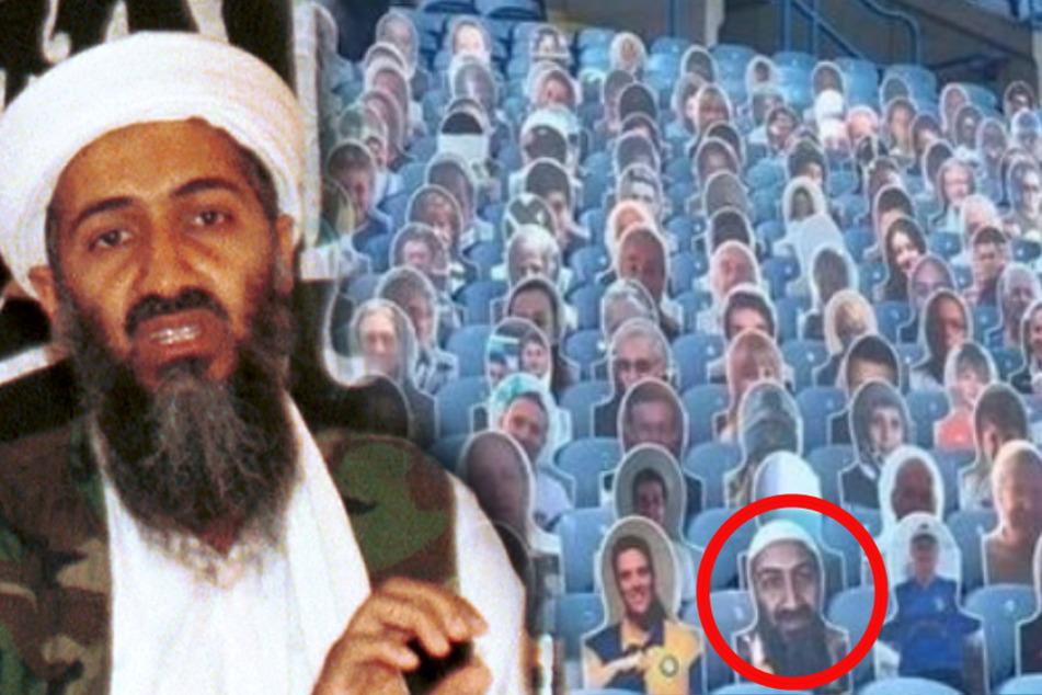 Skandal im Fußballstadion: Osama bin Laden auf der Tribüne!