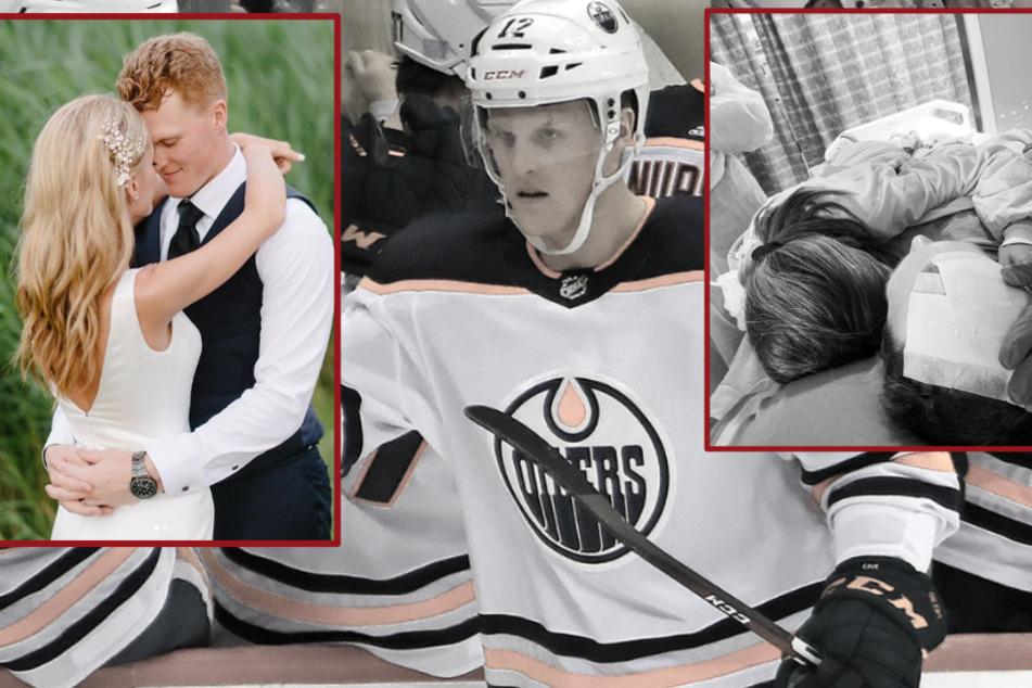 Nach Tod von NHL-Profi Cave: So emotional verabschiedet sich seine Frau