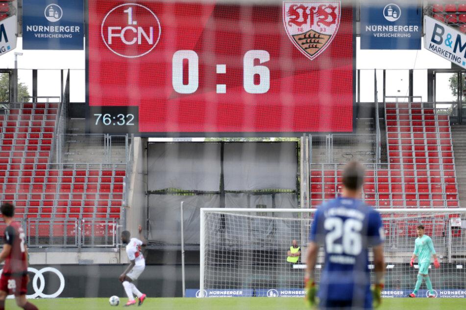 Das Ergebnis auf der Anzeigetafel war deutlich: Der VfB Stuttgart ist somit nach dem 33. Spieltag so gut wie aufgestiegen.