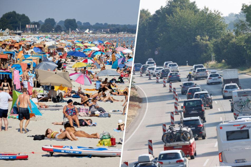 Hitzewelle sorgt für Stau-Chaos und überfüllte Strände im Norden!