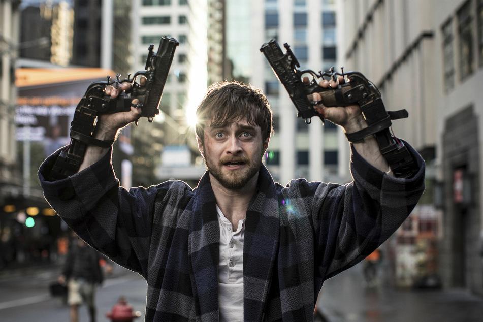"""In """"Guns Akimbo"""" muss Radcliffe um sein Leben kämpfen."""