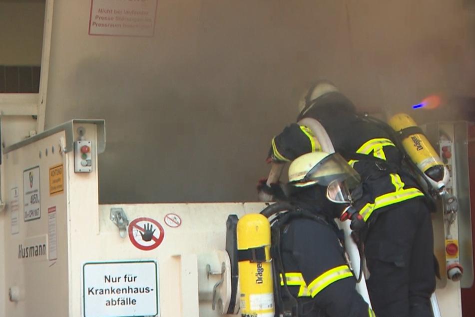 Feuerwehreinsatz auf Hamburger Klinik-Gelände