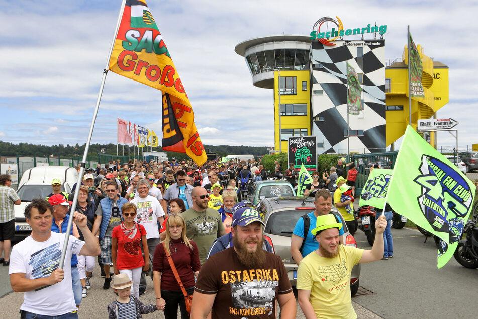 Rund 600 Motorsport-Fans waren am Sonntag auf dem Sachsenring unterwegs.