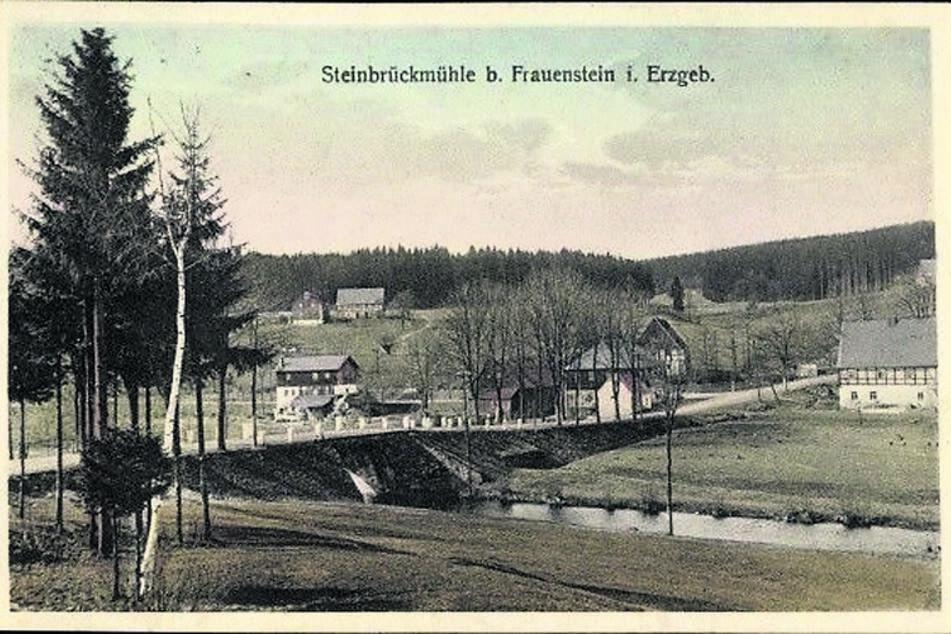 Das Dorf Steinbrückmühle vor der Flutung.