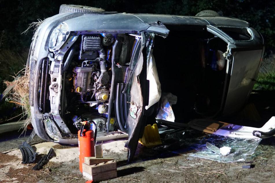 An dem Opel Corsa entstand Totalschaden.