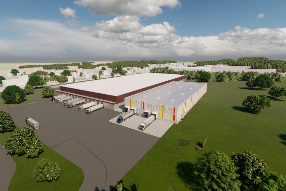So soll das neue Kühlzentrum (rechts) aussehen.