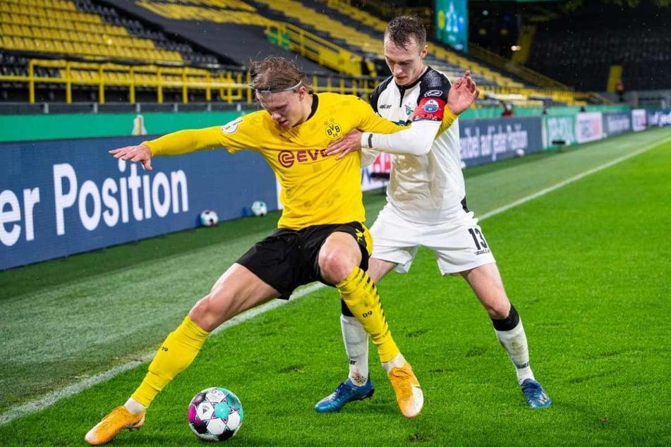 Mit dem SC Paderborn traf der 26-Jährige in der vergangenen Saison auf Borussia Dortmund und Erling Haaland (19).