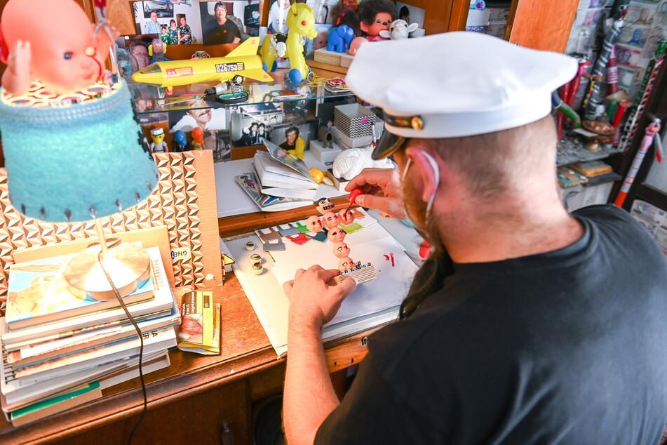 """Braucht kein Atelier: """"Milchmann"""" fertigt seine Objekte zu Hause an."""
