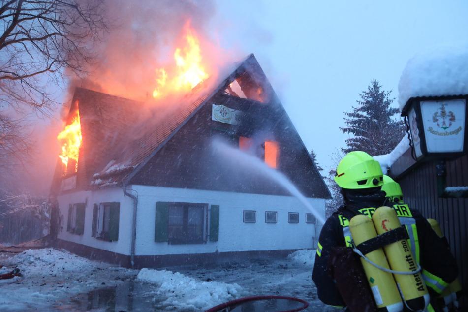 Im Januar 2019 brannte die 1927 eröffnete Waldschänke komplett aus.
