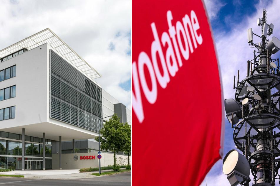 Bosch (l.) investierte in Dresden eine Milliarde Euro. Vodafone baut in der Landeshauptstadt ein Entwicklungszentrum.