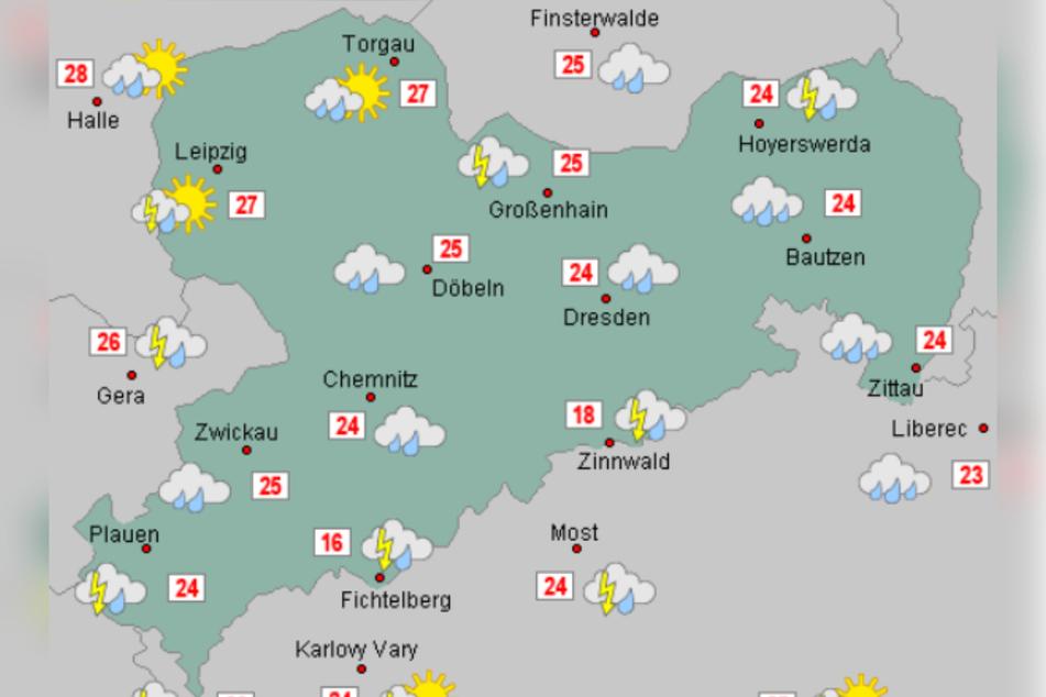 Erst am Sonntag tritt eine Wetterbesserung ein.
