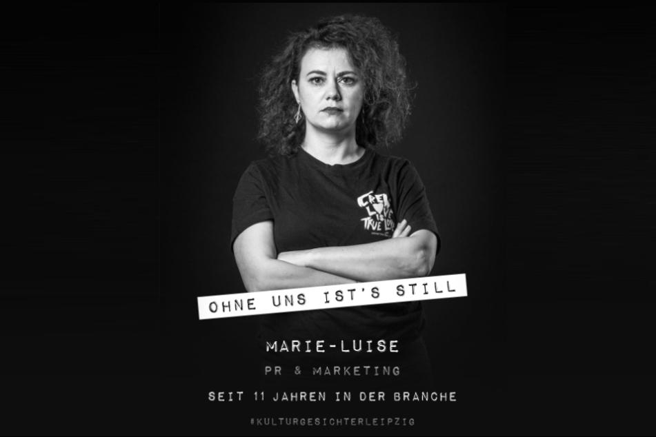 Marie-Luise Reber von der Aktion #Kulturgesichter und #ohneunsistsstill.