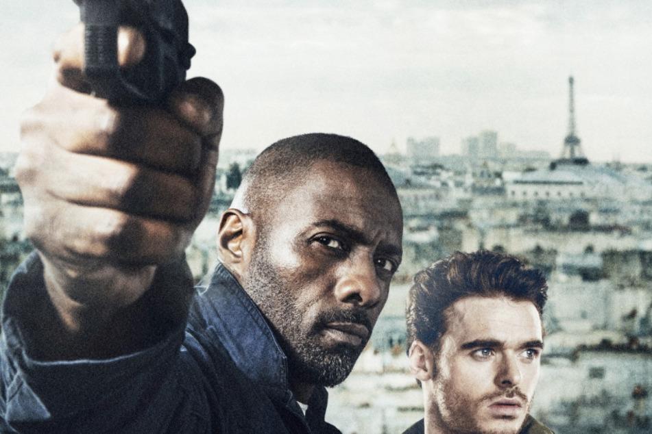 """Ein sexy Gespann brilliert zum Kino-Schluss: Idris Elba und Richard Madden in """"Bastille Day"""" am 2. August."""