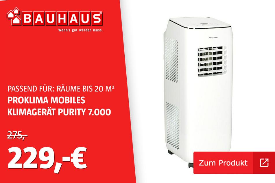 Klimagerät 7000 Btu A+ für nur 229 statt 275 Euro