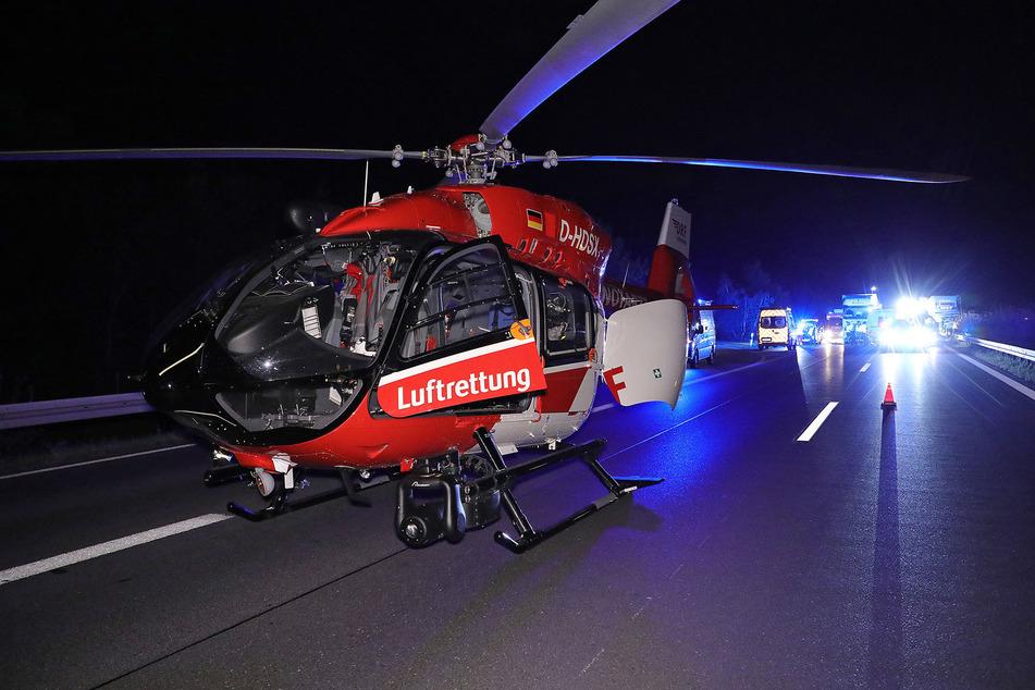 Der Rettungshubschrauber war im Einsatz.