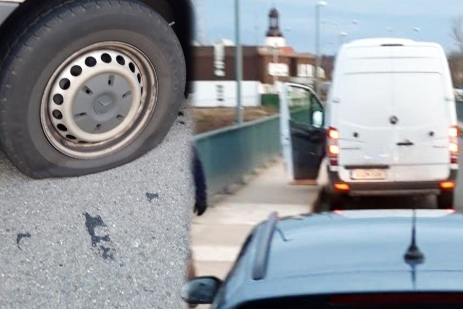 Von der Brücke in den Grenzfluss: Autodieb springt in die Neiße!