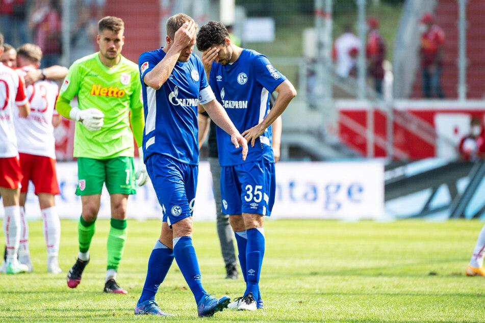 Die Schalker Spieler waren nach der klaren Pleite entsetzt.