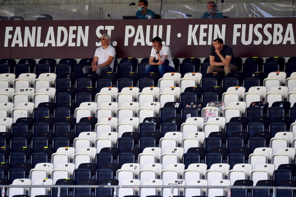 Leere Ränge im Millerntor-Stadion während der Corona-Krise.