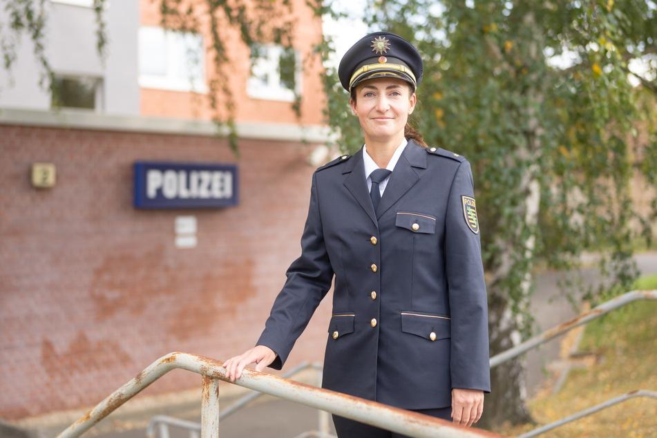 Polizeirätin Maria Meißner (36) hat die Leitung des Reviers Dresden-West übernommen.