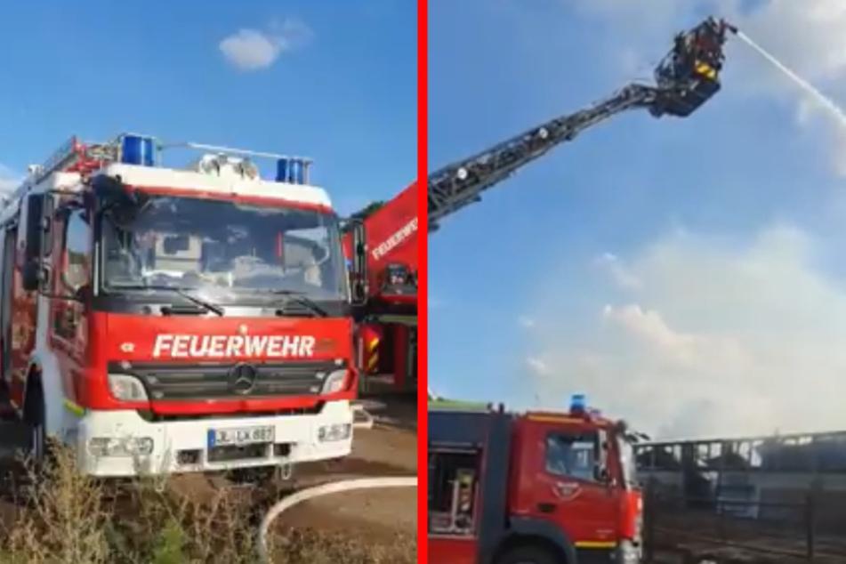 Die Freiwillige Feuerwehr löschte den Brand am Montagabend.