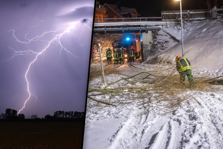 Sturmtief zieht über Sachsen: Warnung vor heftigem Wintergewitter!
