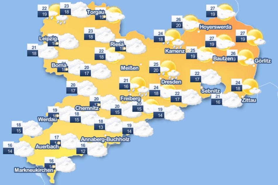 Der Mittwoch wird nach Angaben des Wetterdienstes in ganz Sachsen sehr wechselhaft. Erst am Nachmittag soll sich mehr und mehr die Sonne zeigen.