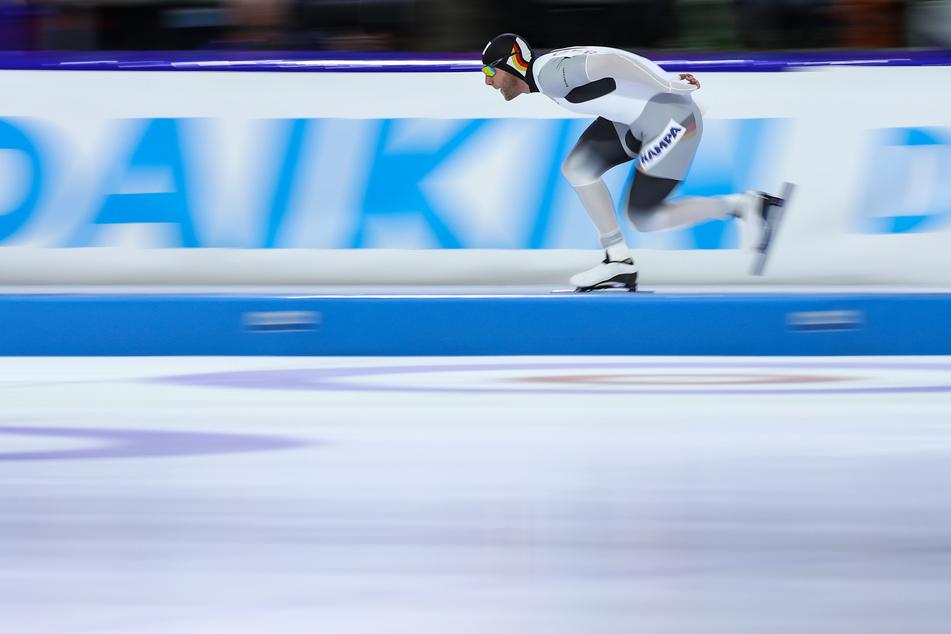 Eisschnelllauf: Weltcup, 1000 m, Herren. Nico Ihle (35) aus Deutschland in Aktion.