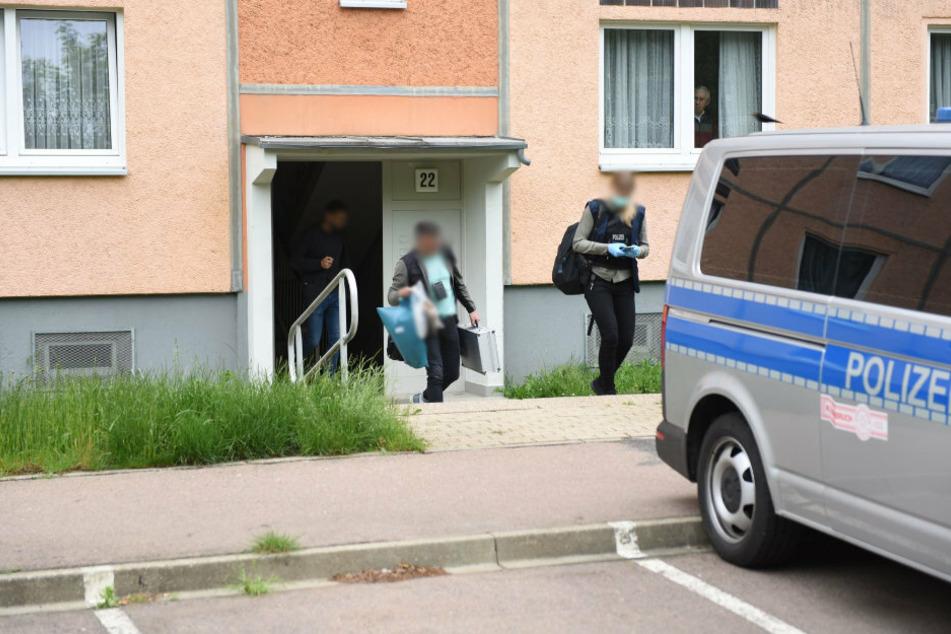 Polizeieinsatz am Dienstagmorgen in der Westfälischen Straße in Döbeln.