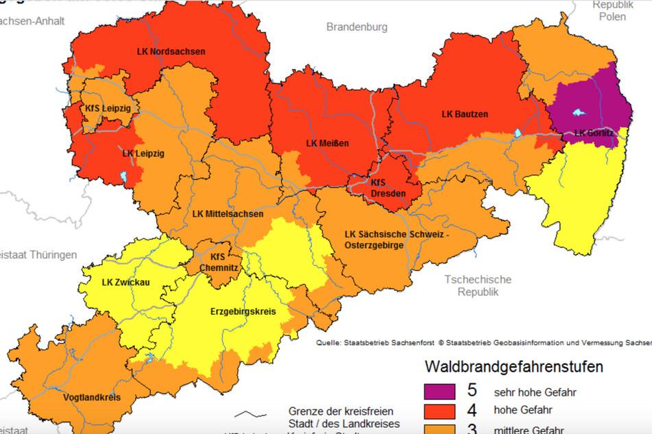 Für Chemnitz gilt aktuell die Waldbrandwarnstufe 3.
