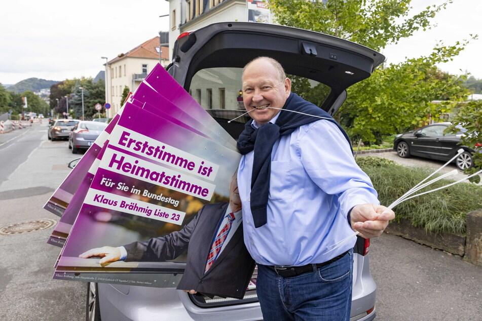 Lässt sich von den Prognosen nicht einschüchtern: Klaus Brähmig (64, parteilos) will wieder für die Sächsische Schweiz in den Bundestag.