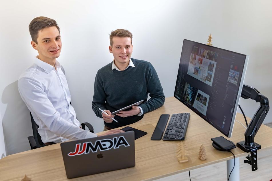 Jannick Saunus (22, r.) und Jeremy Ziron helfen Firmen bei der Umsetzung digitaler Ideen.