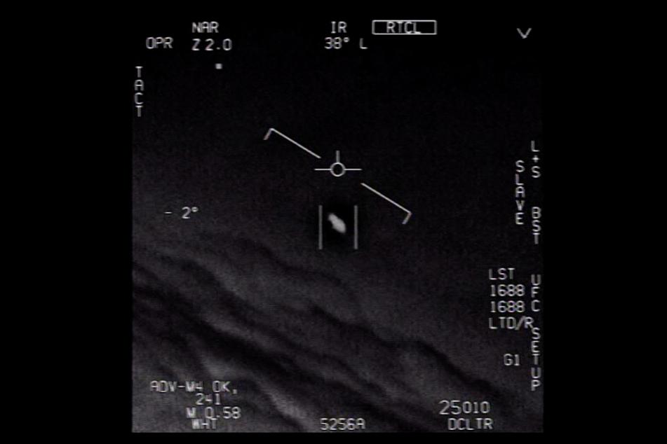 Dieses UFO sichtete ein Pilot der US-Marine. Das Aufnahmedatum ist unbekannt.