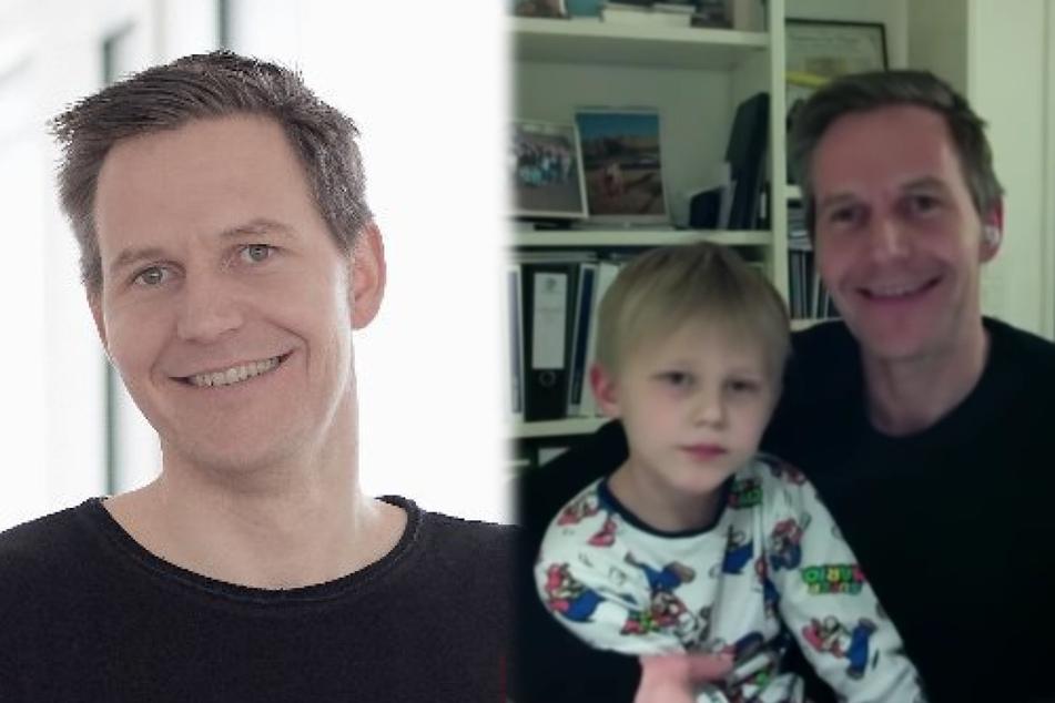 Süßer TV-Auftritt: Siebenjähriger platzt bei seinem Vater ins CNN-Interview