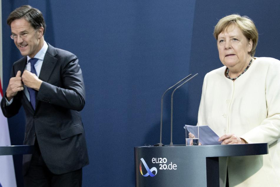 Mark Rutte (53) und Bundeskanzlerin Angela Merkel (65). (Archivbild)