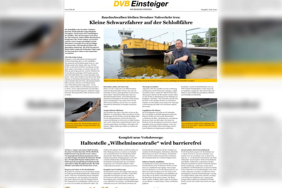 Aktuelle Informationen rund um die Dresdner Verkehrsbetriebe gibt es hier auf einen Klick.