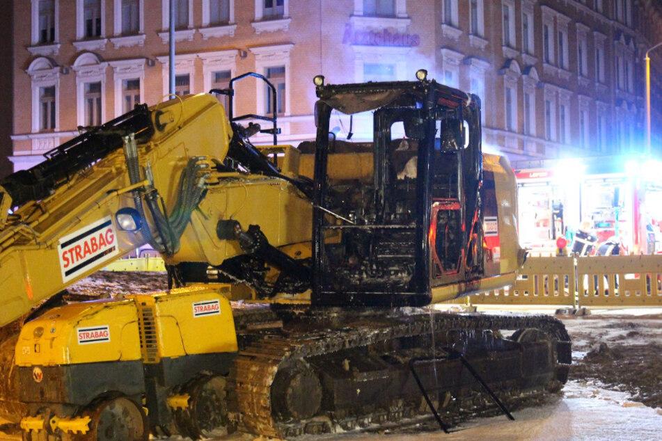 Erneut Bagger in Leipzig-Connewitz in Flammen: LKA ermittelt