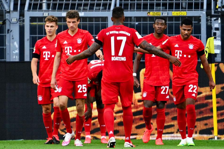 Joshua Kimmich (l.) entschied das Spiel für den FC Bayern München.