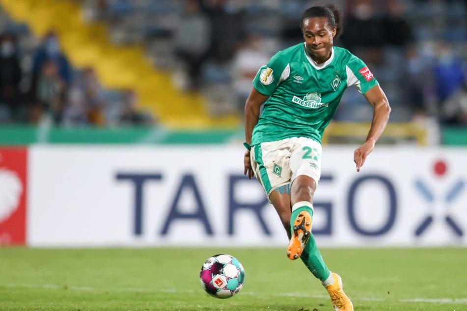 Tahith Chong schoss Werder Bremen zum 1:0 (11.).