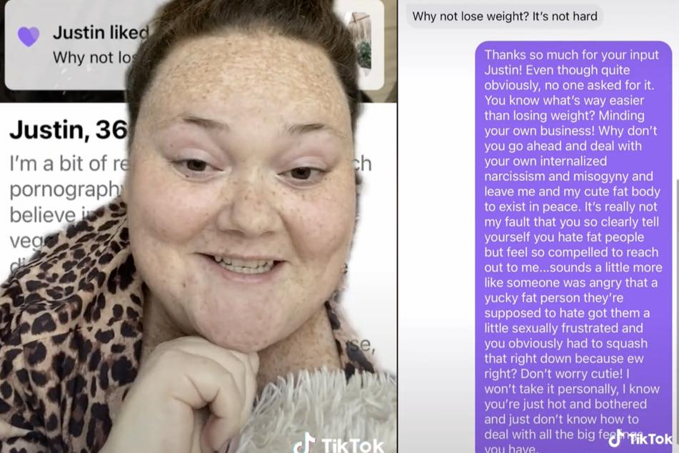Bethany Caldwell (26) hat Tinder-Date Justin in die Schranken gewiesen.