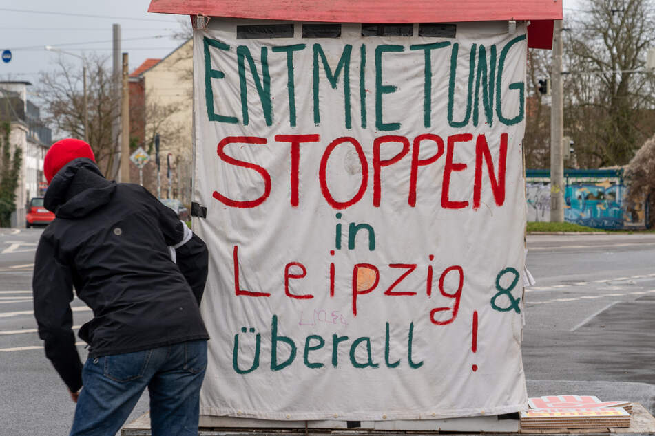 Am Connewitzer Kreuz versammelten sich am Samstag zahlreiche Demonstrierende.