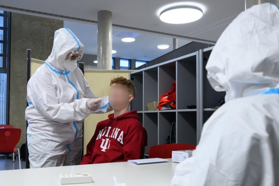 Bei der Schnelltestkampagne an Sachsens Schulen wurden binnen zwei Tagen 23 positive Schüler und acht Corona-positive Lehrkräfte entdeckt.