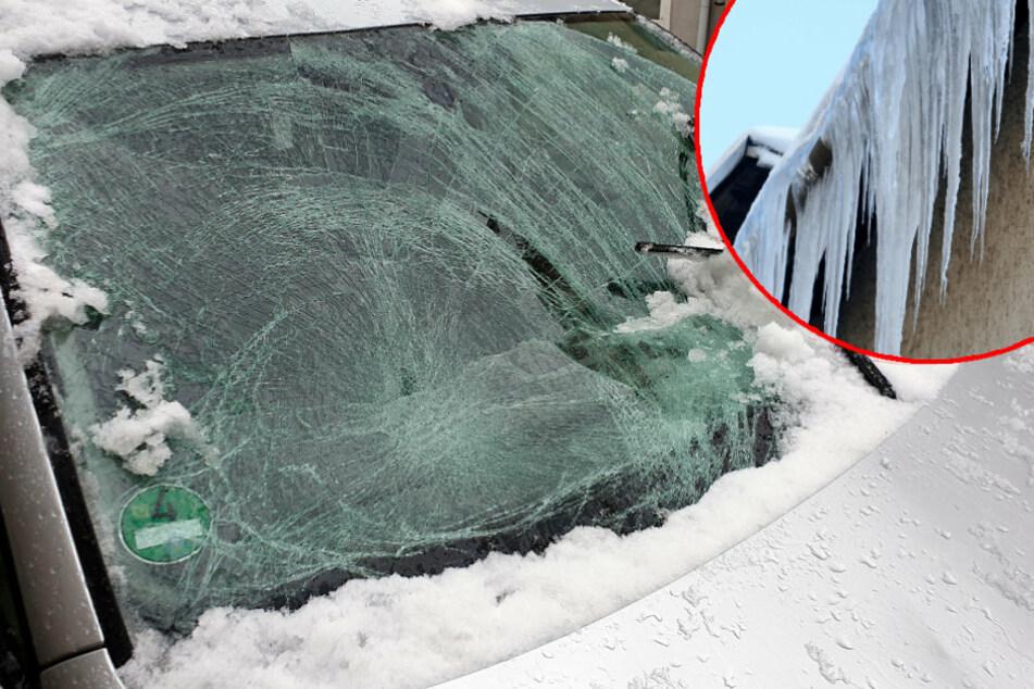 Chemnitz: Vorsicht, Eis-Lawinen! Die Gefahr lauert auf dem Dach