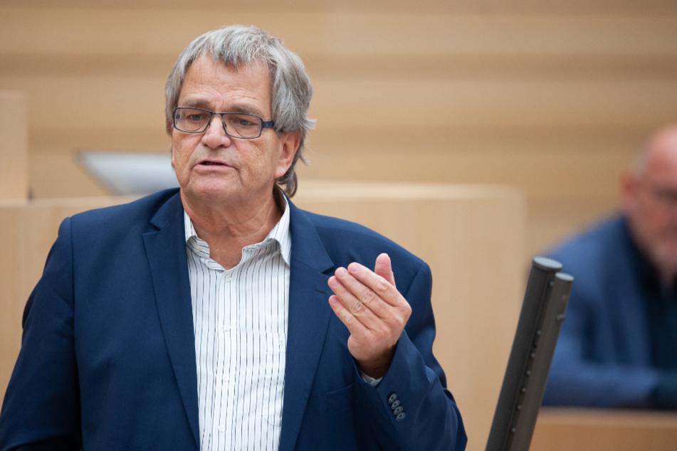 Uli Sckerl (69), Parlamentarischer Geschäftsführer der Grünen im Landtag.