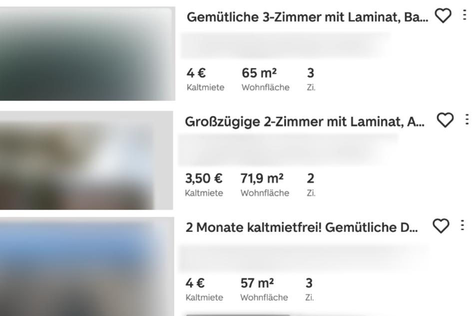 Gnadenlos Günstig: Für 3,50 Euro Kaltmiete gibt's in Chemnitz mehr als 70 Quadratmeter. Kann das sein?