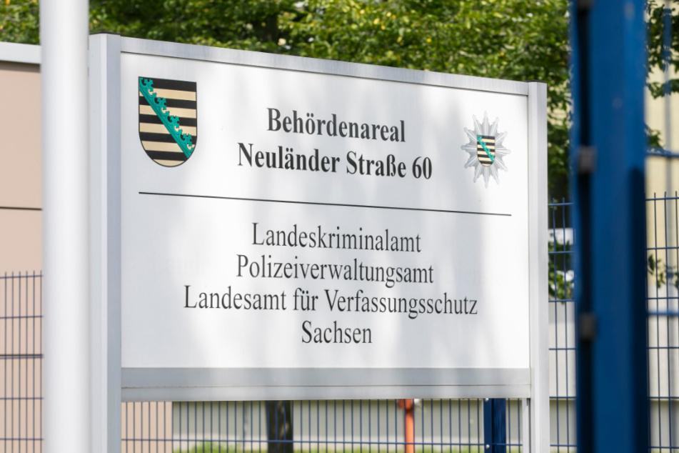Der sächsische Verfassungsschutz teilt sich in Dresden ein Gelände mit dem Landeskriminalamt.