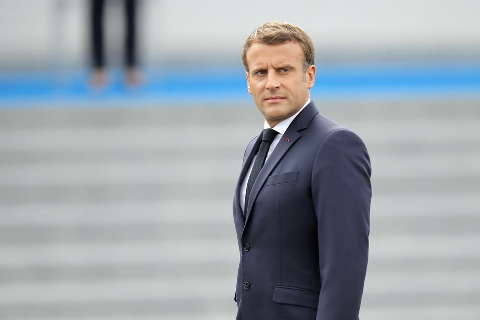 Emmanuel Macron, Präsident von Frankreich beim Nationalfeiertag in Paris.