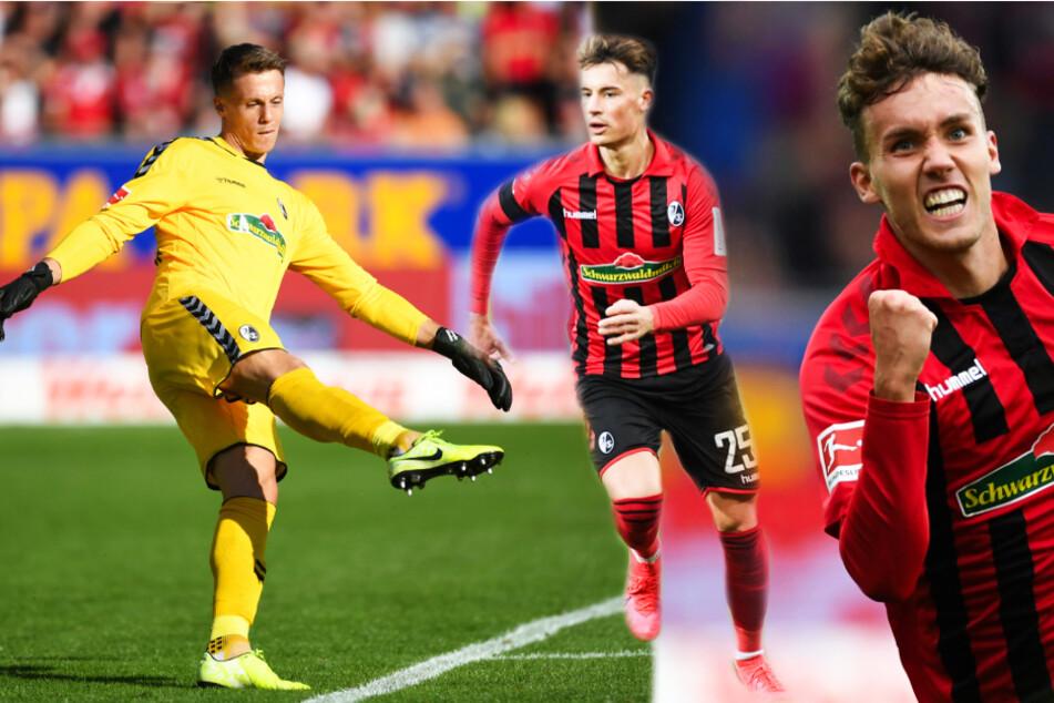 Von links nach rechts: Mit Alexander Schwolow, Robin Koch und Luca Waldschmidt verließen den SC Freiburg drei tragende Säulen.