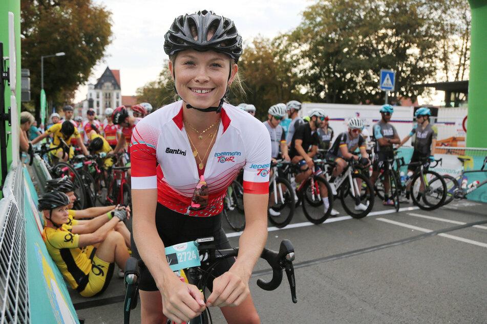 Die gebürtige Dresdnerin ist aber auch leidenschaftliche Rennradfahrerin.