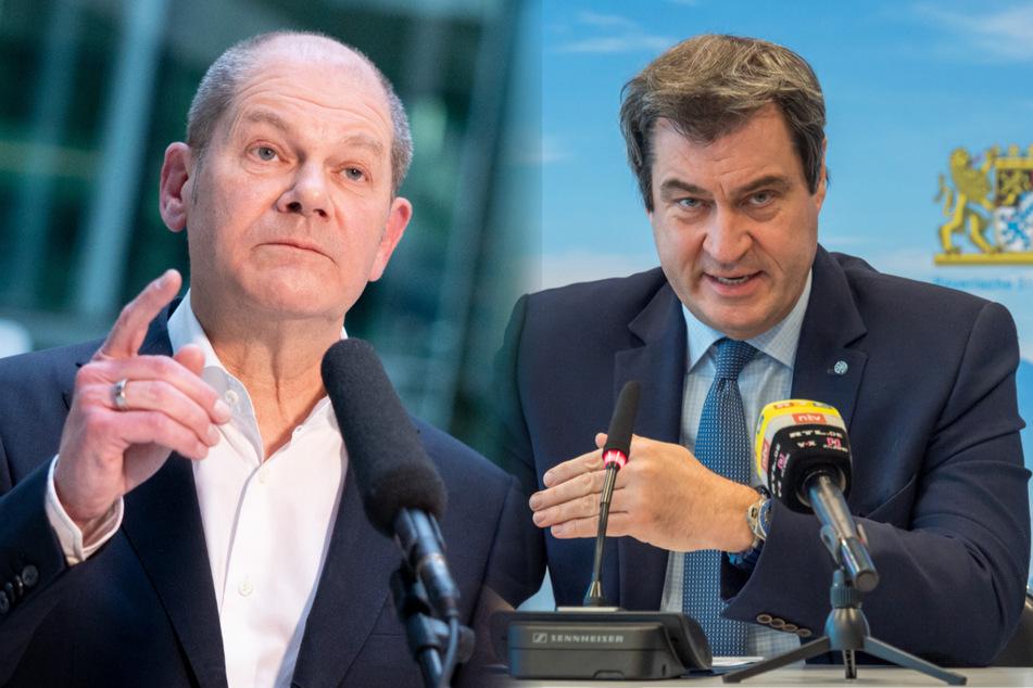 """""""Sie sind nicht der König von Deutschland"""": Corona-Streit zwischen Söder und Scholz"""